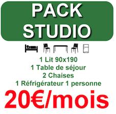 Pack de location de mobilier Eco-loc